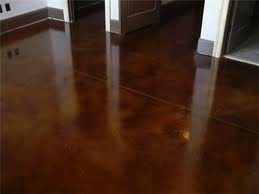 dark brown stained concrete floors. Concrete Floor 101 DESIGNER CONCRETE FLOORING  Stained